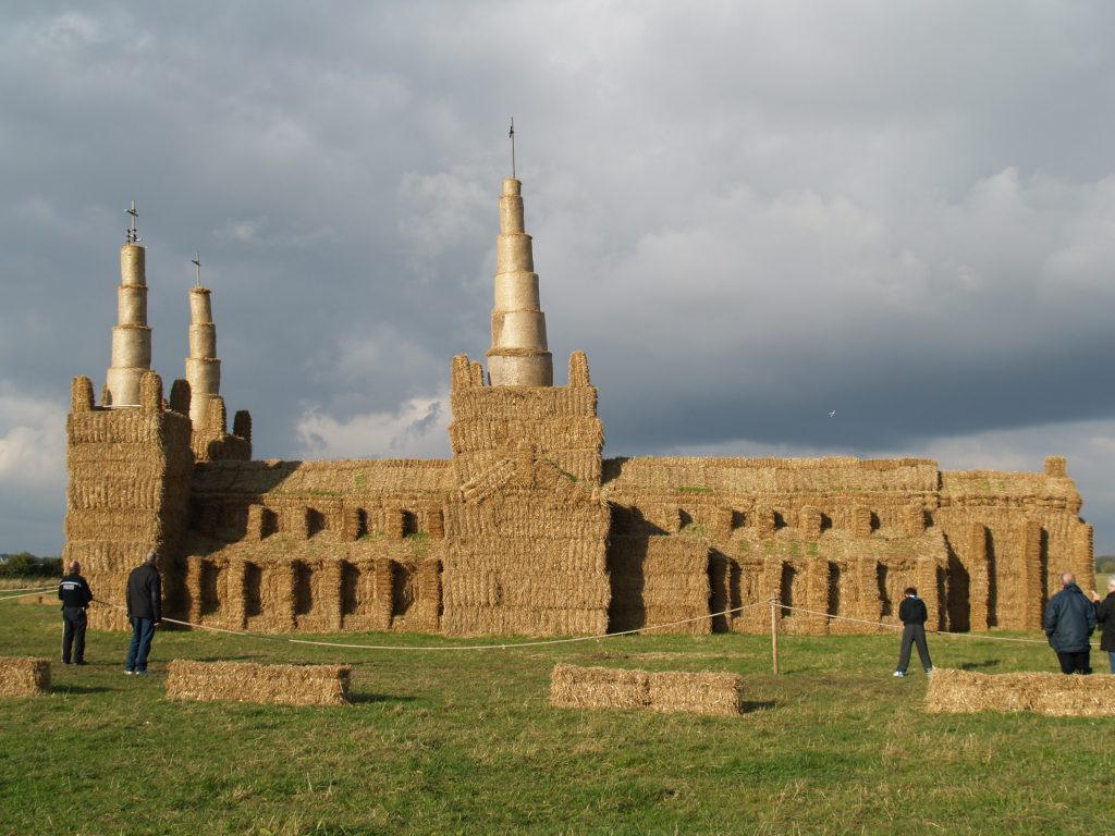 Straw Bale Lichfield Cathedral